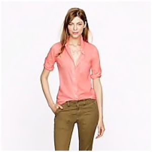 J. Crew Boy Shirt in Tipped Indian Voile